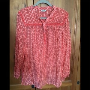 Lucky Brand Tunic with Bead Detail, 3X